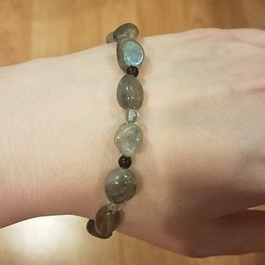 NWOT Handmade Laboradorite Flourite Bracelet